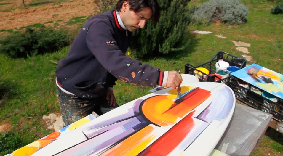 art-on-surfboard
