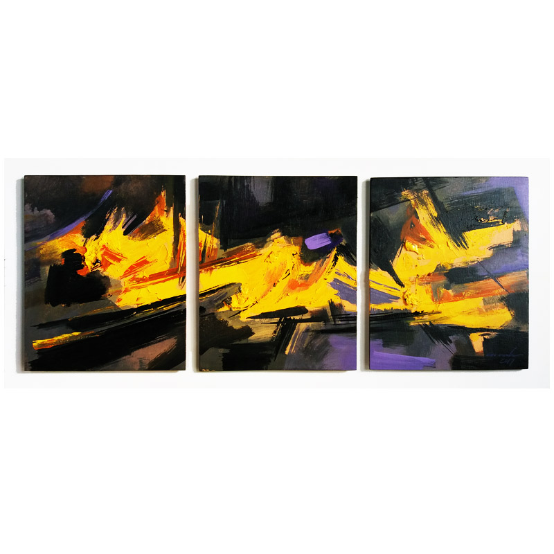 d5c457320c ABSTRACT - ORIGINAL PAINTING-acrylic on wood panel-cm60x27-YELLOW ...